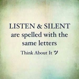 be stil and know
